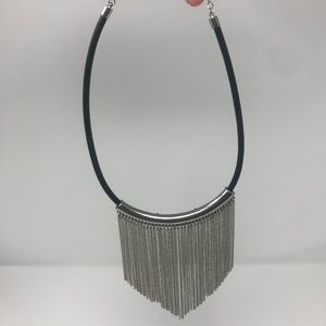 Silver Waterfall Chain Necklace